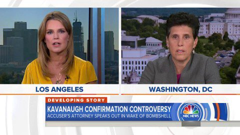 """Image for the Tweet beginning: This is from yesterday.  @SavannahGuthrie: """"Is"""