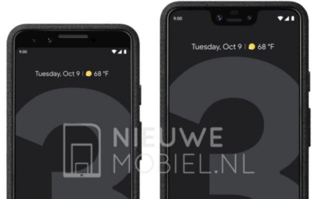 Google Pixel 3 and Pixel 3 XL leak side-by-side in press renders...