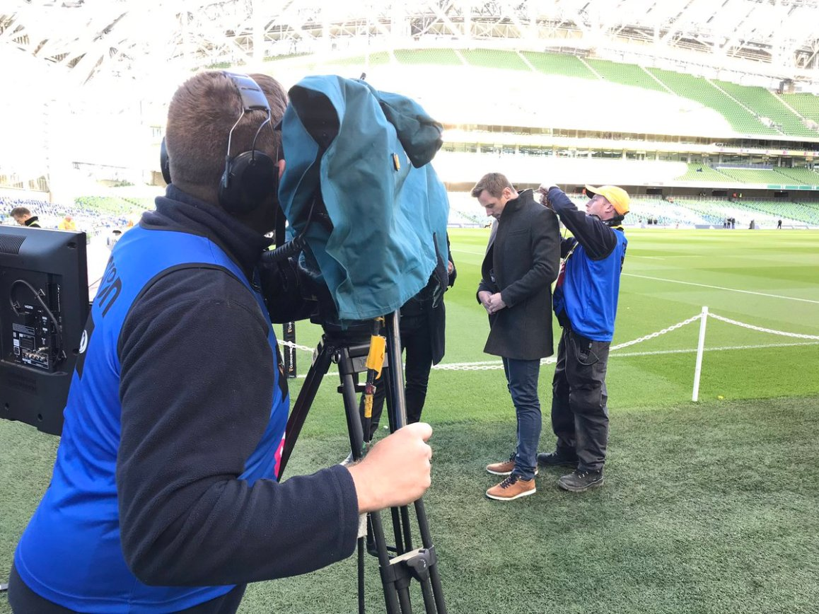 test Twitter Media - Getting ready for Leinster v Munster Pro14 clash at the Aviva Stadium Live on EirSport kick off here is at 18.00 https://t.co/bebQqCERiy