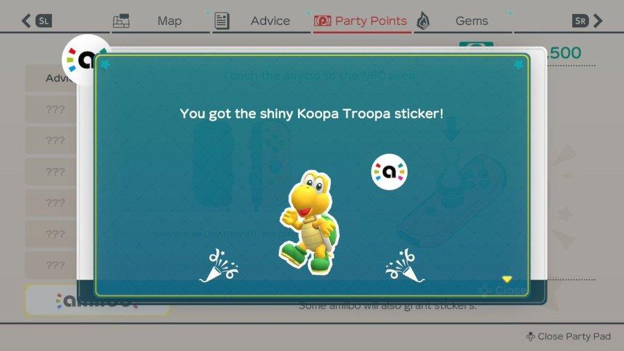 Super Mario Party amiibo Sticker Guide