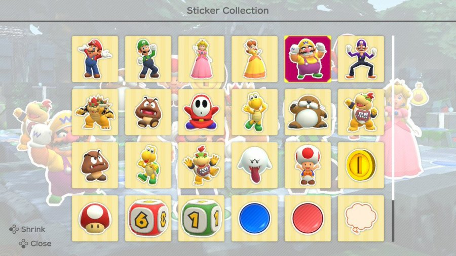 Super Mario Party amiibo Sticker Guide