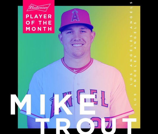 Miketrout  Hr Christianyelich  Hr Take Home Al Nl Player Of The Month Pic Twitter Com Gxycnr