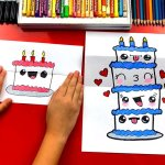 Art For Kids Hub On Twitter Learn How To Draw A Birthday Cake Tower With Folding Https T Co 0ihhlv7tdy