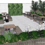 Alan Rudden Twitterren A Design Proposal For A Bar Restaurant Outdoor Area Here We Aim To Incorporate As Much Green As Possible While Using Built In Seating Booths To Utilise The Space