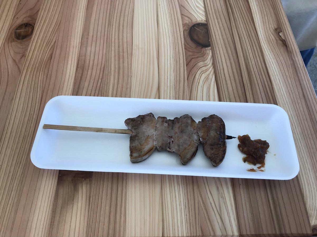 test ツイッターメディア - 加賀屋さんのジャンボ能登豚 柔らかくて美味しい!!  #サケマルシェ #加賀屋 https://t.co/p5Be67Oqjs