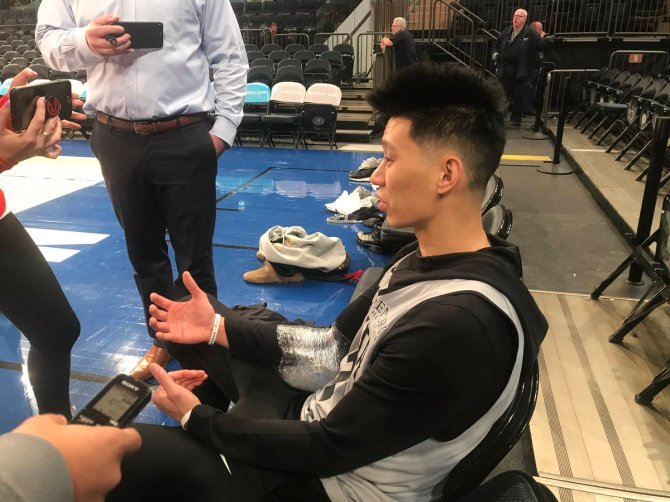 "speaking of linsanity...jeremy lin says lots of negative thoughts have come into his mind over the last two years but he's happy and grateful to be back. disappointed in how his nets tenure went: ""i was there for an opportunity that never really came."""