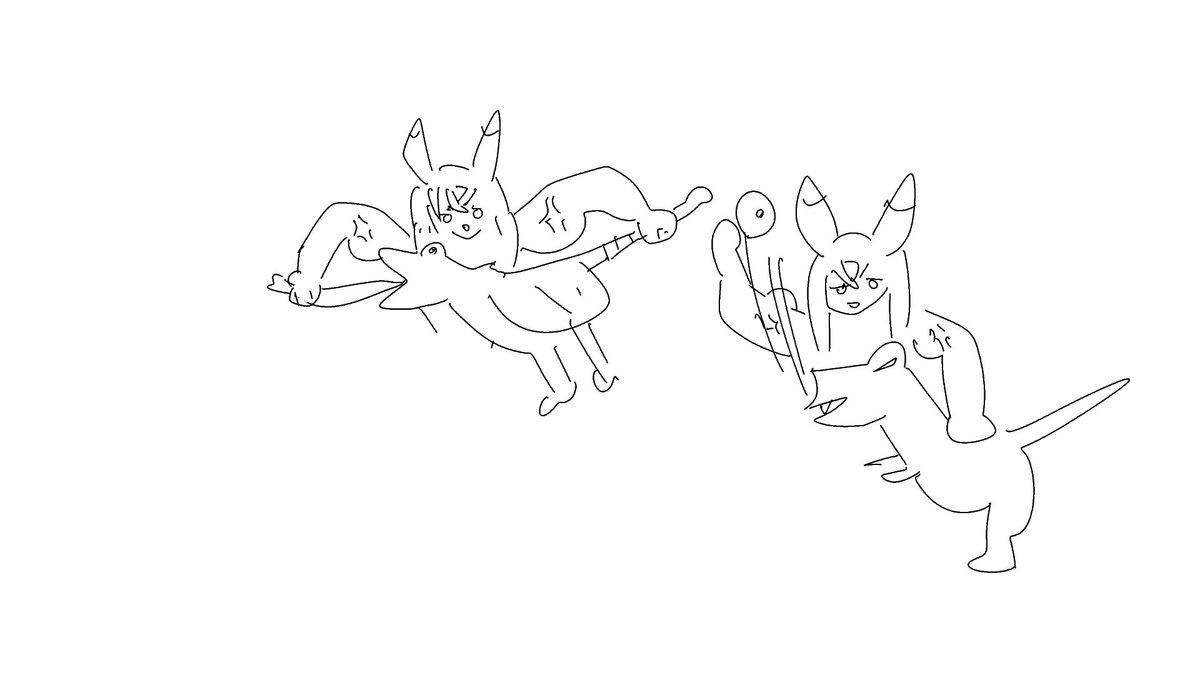 test ツイッターメディア - 新川良くん(@oh_so_cute1)が描いてくれた、 プケプケのしっぽと舌をちぎる星河テフとアンジャナフの鼻の穴をちぎる星河テフです!!!! #tefu_art https://t.co/X4se095nVF