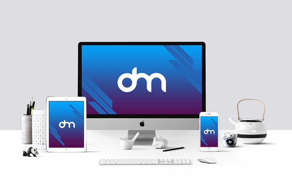 Apple Devices Mockup Psd Imac Ipad Iphone Mockups Freepsd Psd