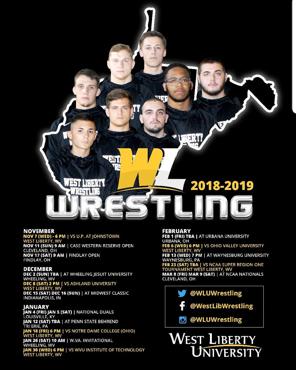 official 2018 2019 wlu wrestling poster