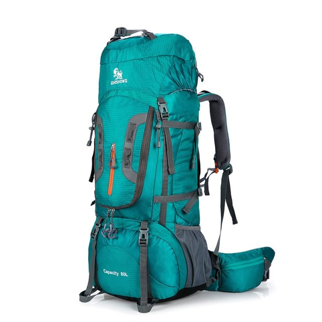 $150.00 80L  Outdoor Backpack Nylon Sport Travel Bag Aluminum-alloy support...
