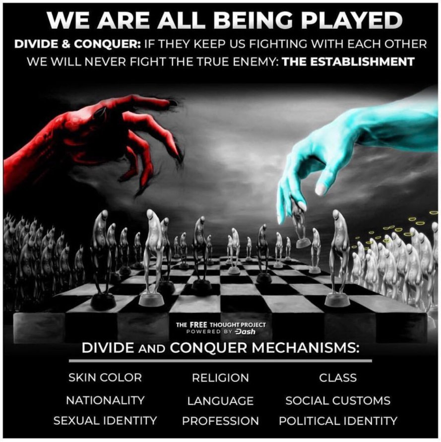 """Marchella a Twitter: """"Divide & Conquer is as old as the hills. That's why  they invented political parties.… """""""