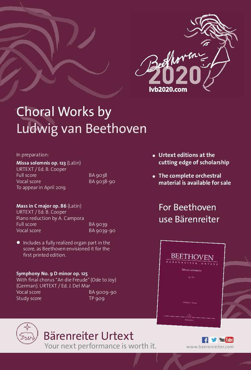 Our plans for Beethoven 2020 are very exciting but shush, they are still a secret! We will of course be using our @Baerenreiter scores though, that's not a secret...