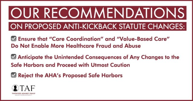 Image for the Tweet beginning: Any changes to the Anti-Kickback
