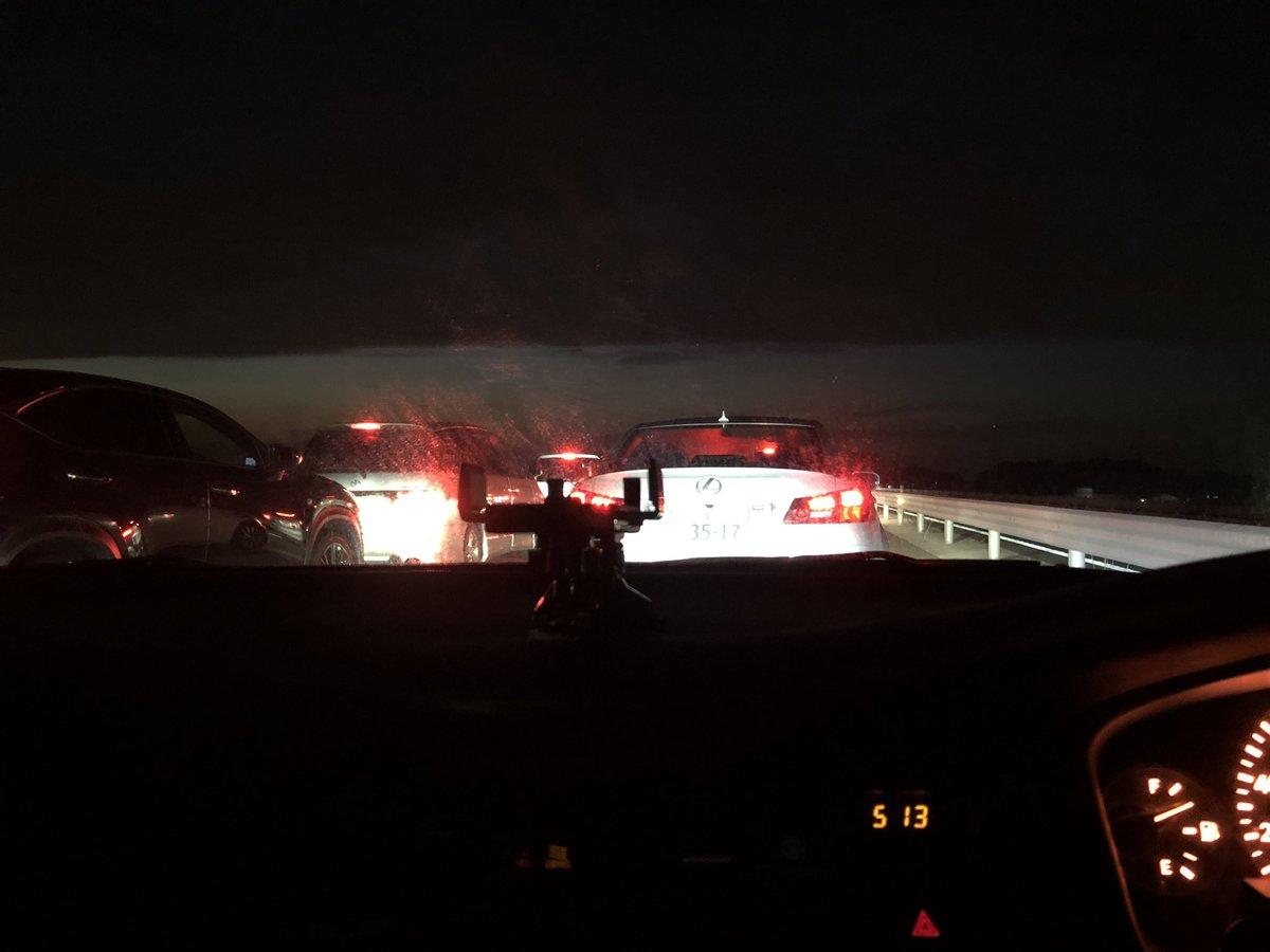 圏央道の境古河IC付近で事故の現場の画像
