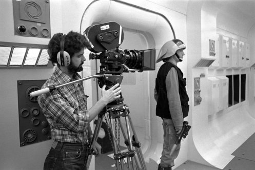 """Star Wars Holocron on Twitter: """"George Lucas filming the iconic opening  scene of Star Wars (1977)… """""""