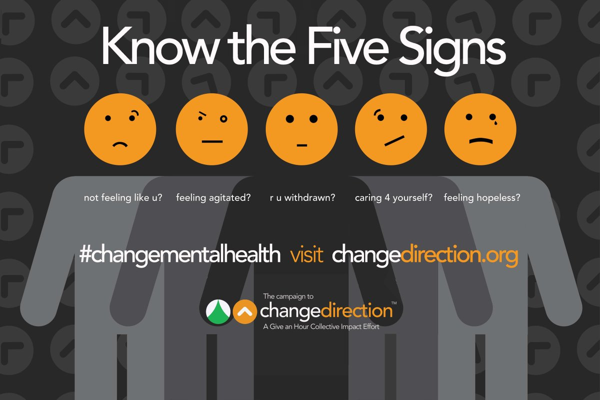 Change Direction On Twitter Here Is Our Five Signs Of Emotional Suffering Poster Feel Free To Use And Share Healthyhabits