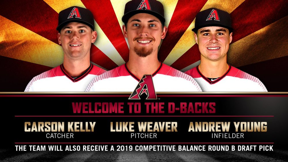 D-backs acquire Carson Kelly, Luke Weaver, and Andrew Young