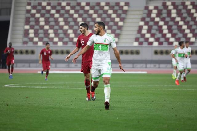 المنتخب الوطني بقيادة بغداد بونجاح يفوز على منتخب قطر 26