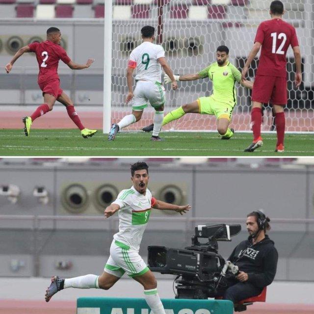 المنتخب الوطني بقيادة بغداد بونجاح يفوز على منتخب قطر 25