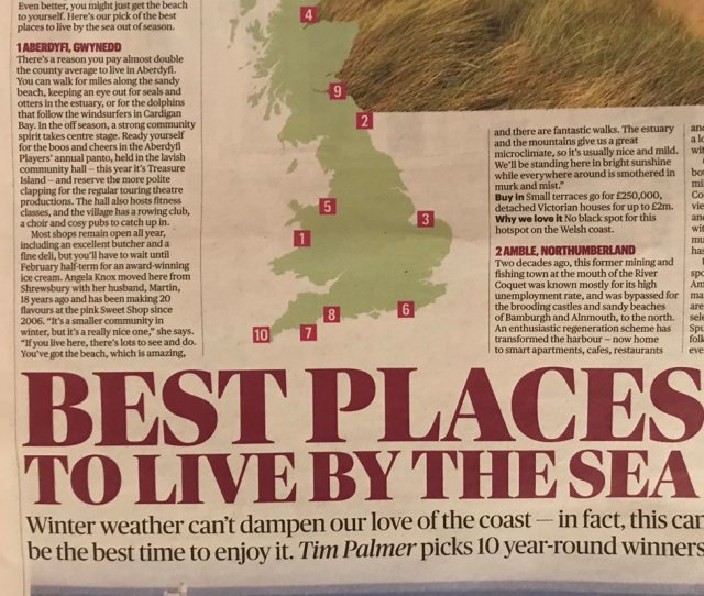 Best Places To Live By The Sea According To Tim Palmer In Todays Thesundaytimes Please Dont All Rush There At Once Its Very Special Wales