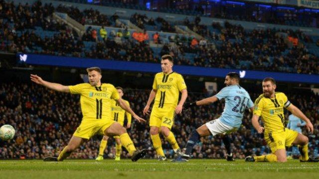 مانشستر سيتي 9 -0 بيرتن ألبيون : محرز تمريرتان حاسمتان و هدف 26