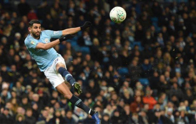 مانشستر سيتي 9 -0 بيرتن ألبيون : محرز تمريرتان حاسمتان و هدف 27