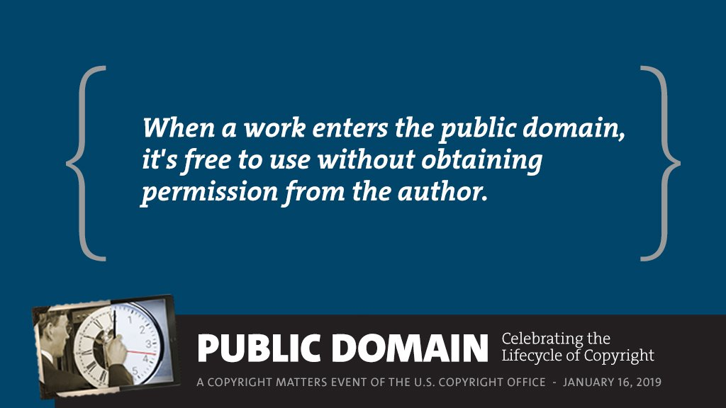 When A Work Enters Public Domain Its Free To Use