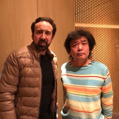 """NWoodrow a Twitter: """"Sur le tournage de Prisoners of the Ghostland, réalisé par Sono Sion, avec Nicolas Cage.… """""""
