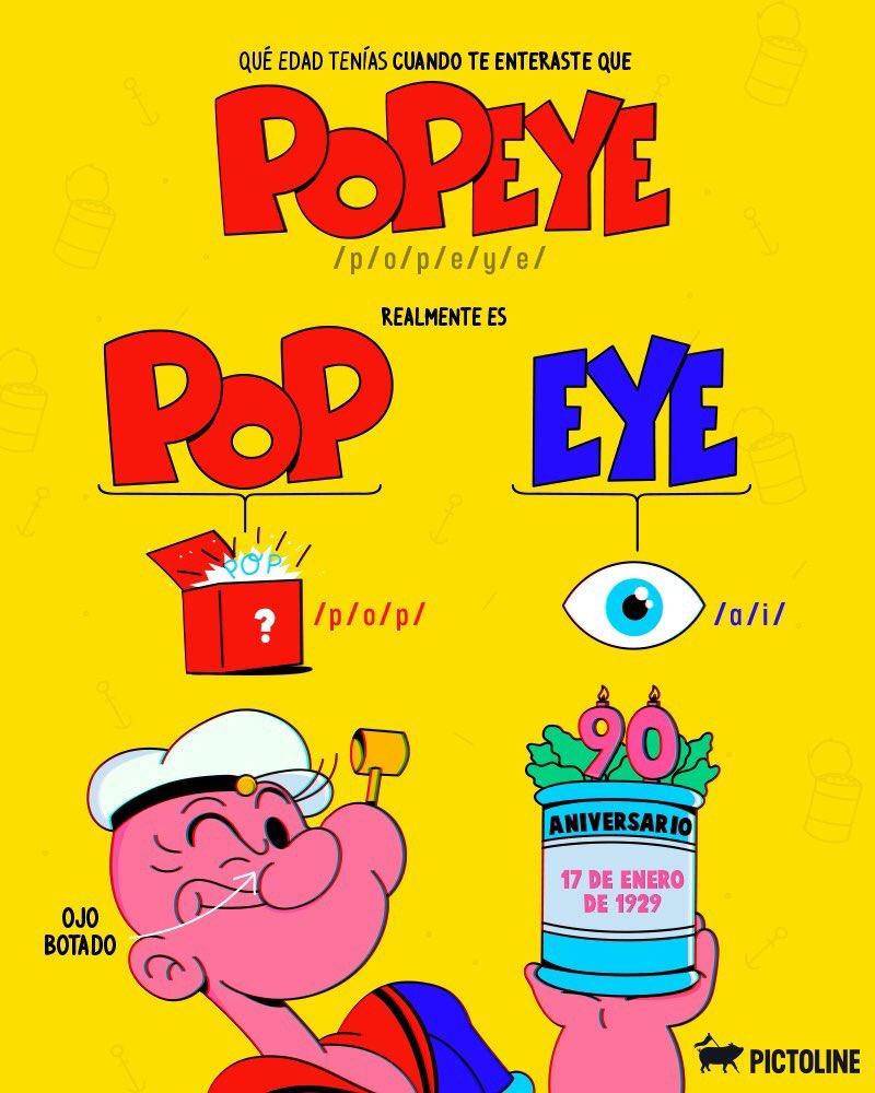 """MexNewz Digital 🌐 on Twitter: """"#Curiosidades #Popeye90 cumple 90 ..."""