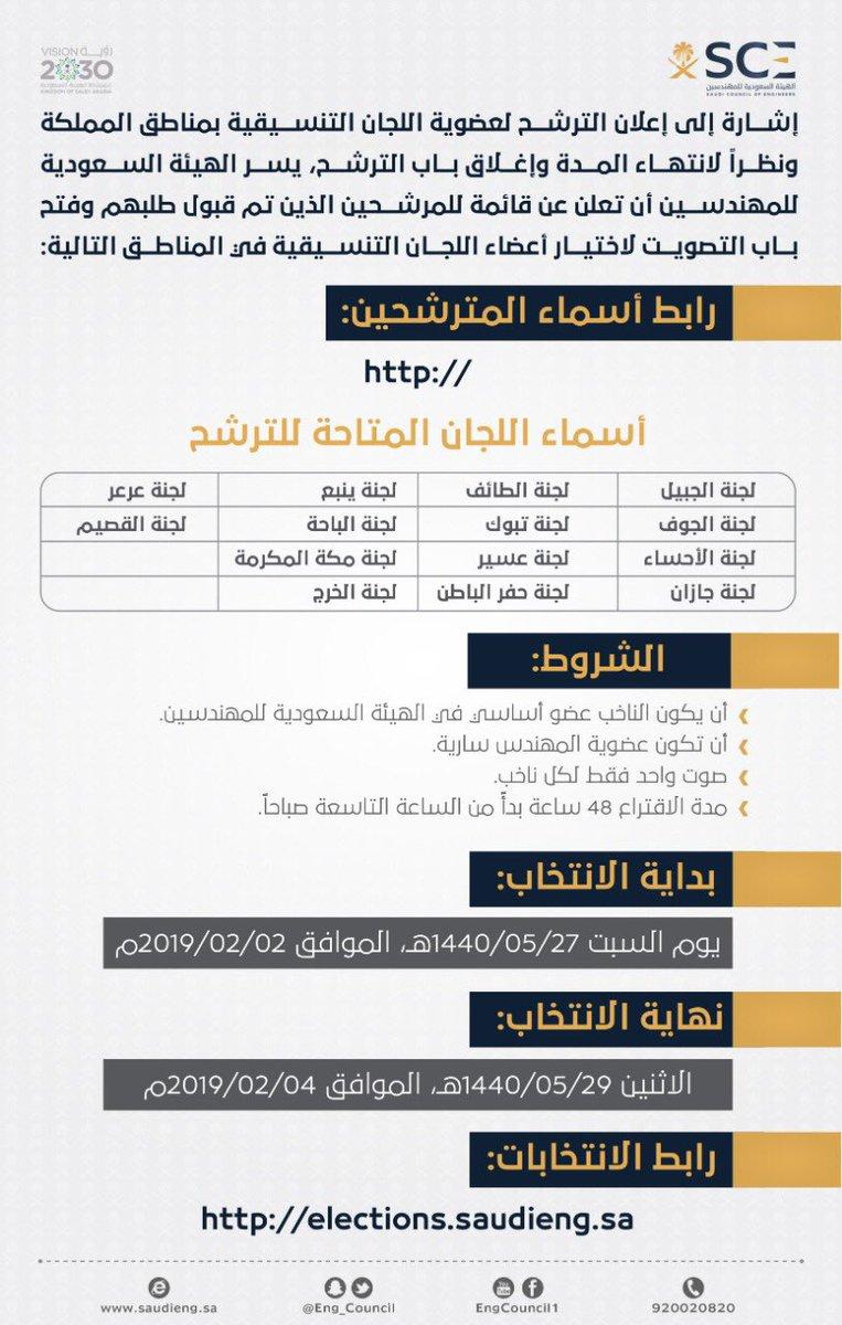 الهيئة السعودية للمهندسين On Twitter بدأت اليوم العملية
