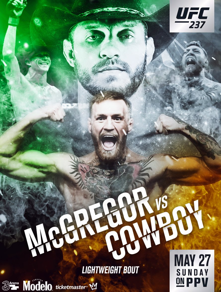 Image result for cowboy vs mcgregor poster