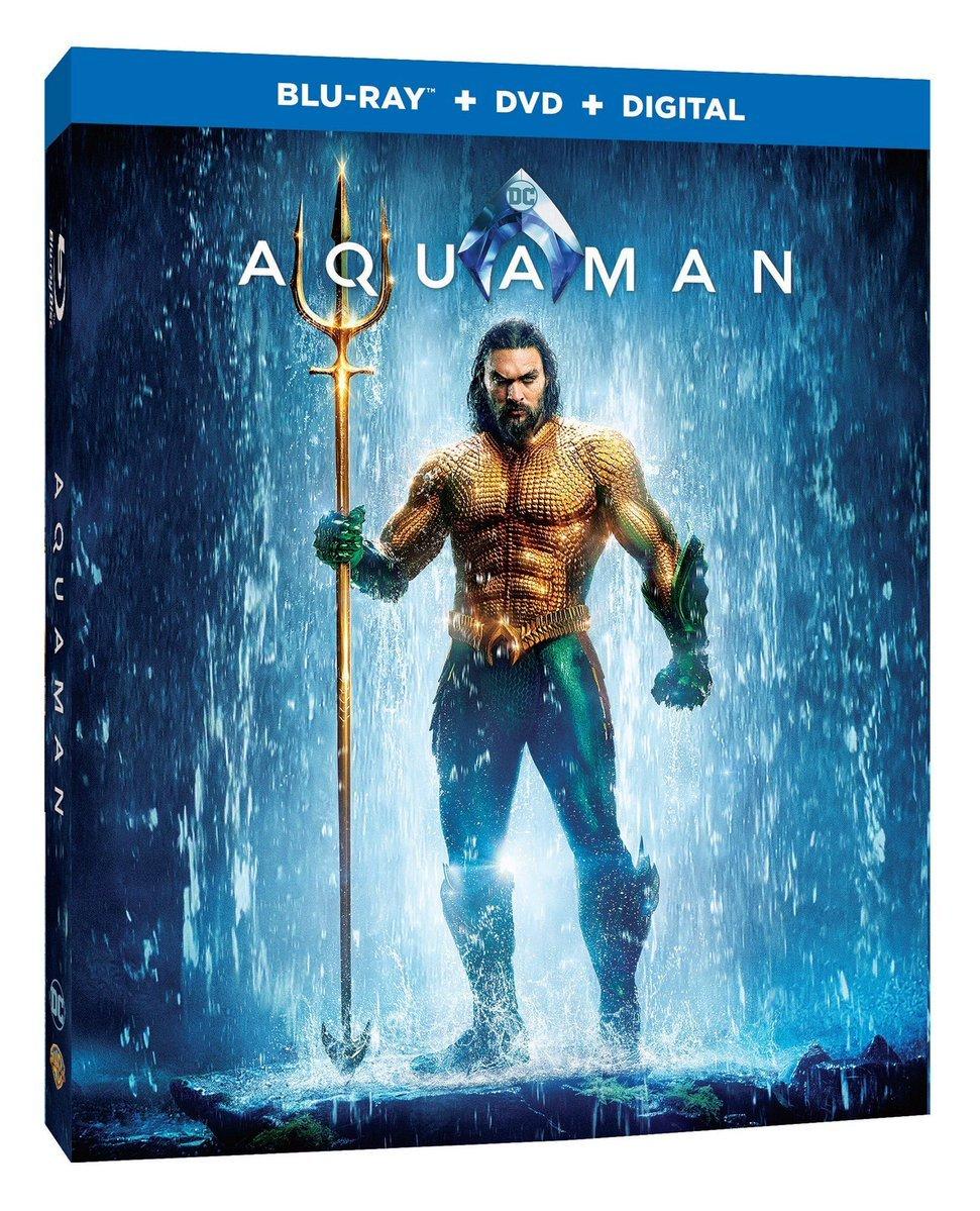 capa do blu-ray de Aquaman