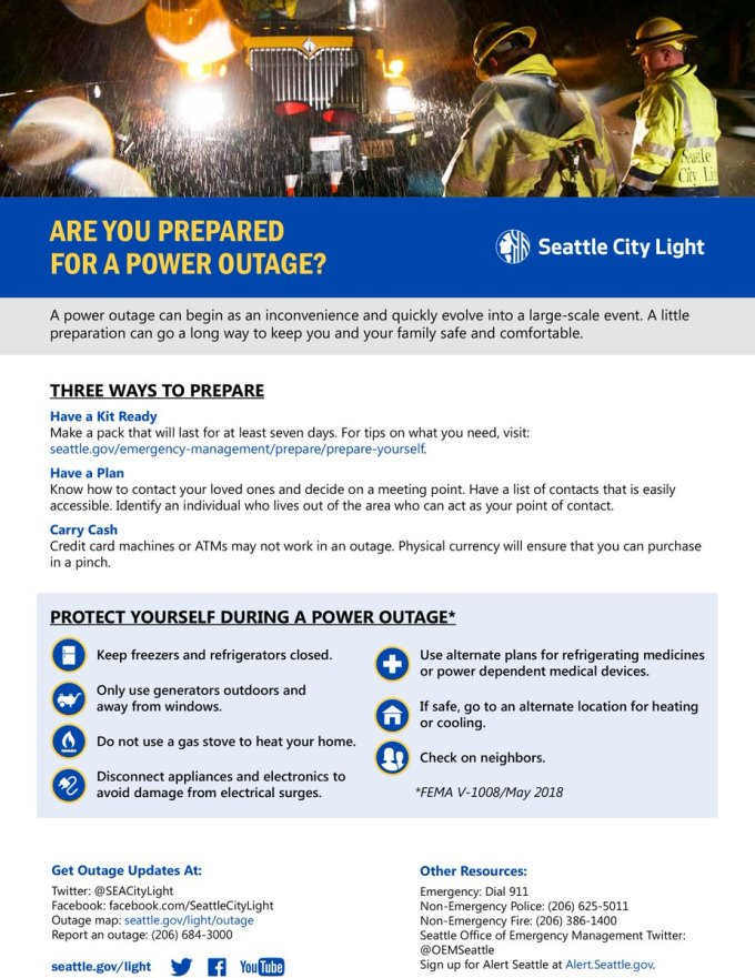 Seattle City Light Power Outage Map