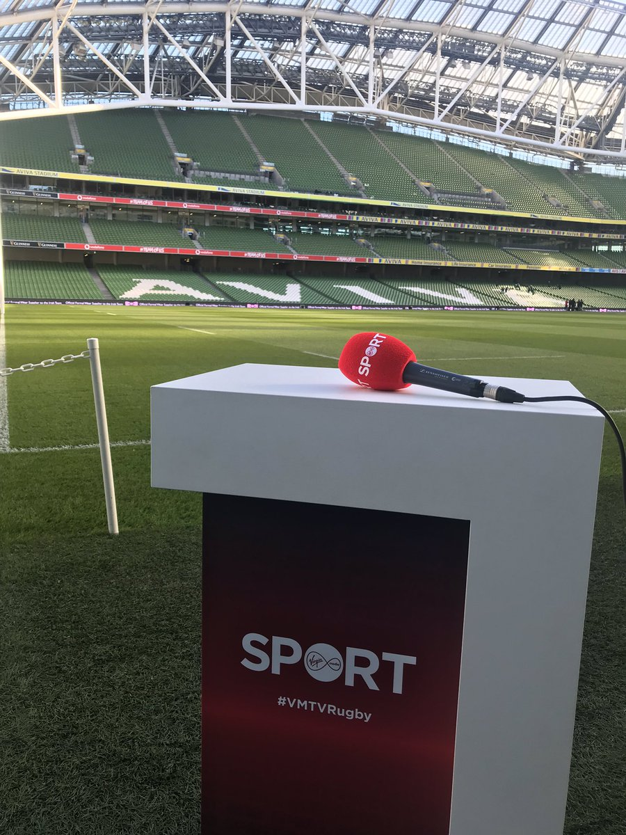 test Twitter Media - We are live on Virgin Media one for 6 Nations Rugby it's Scotland v Italy at 14.14 and Ireland v England from the Aviva Stadium at 16.45 https://t.co/CKQoWNmd2l