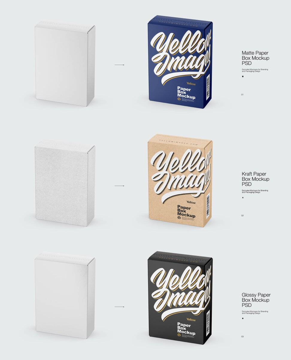 Download Box Mockup Behance Yellowimages