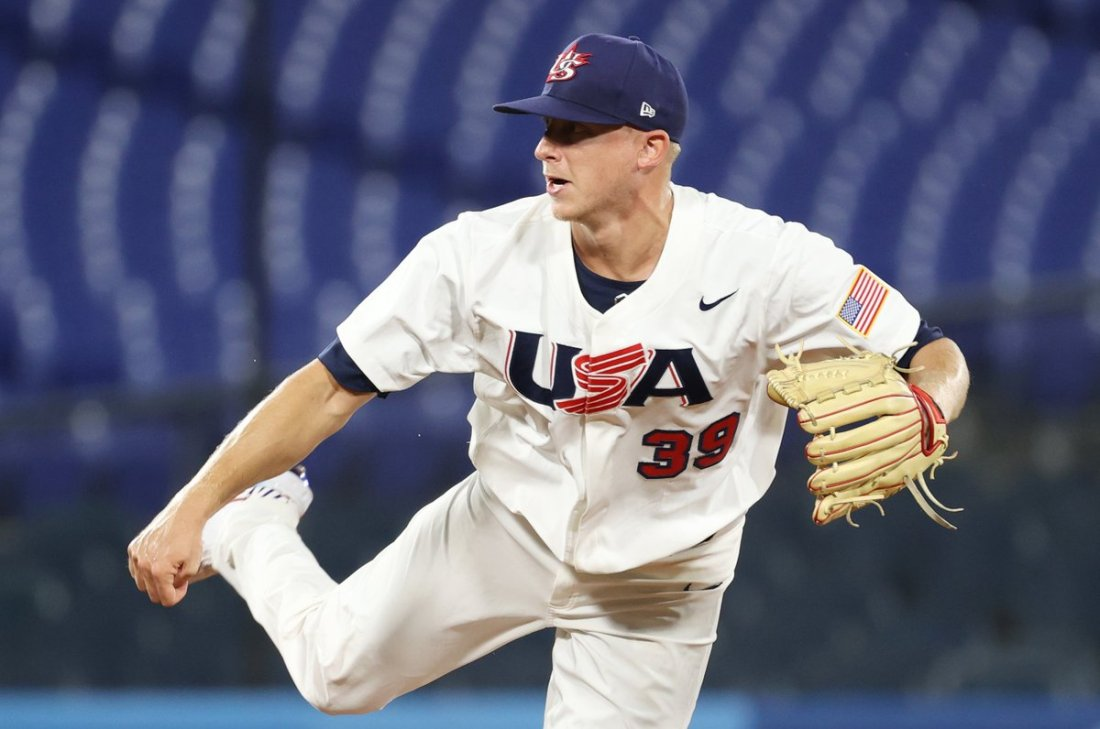 test Twitter Media - Team USA and @Scooter_McGough looking for a spot in the semifinals of the Tokyo 2020 Olympic Games baseball tournament. USA vs. the Dominican Republic tonight at 8 p.m. (PT) #GoDucks #OlympicDucks #ForGlory🇺🇸  @GettyImages #OlympiansMadeHere https://t.co/KZxo411h5f