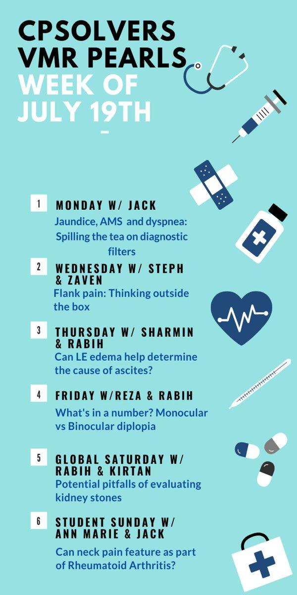 MedTweetorial: #Tweetorial Author: @CPSolvers  Type: #MedEd Specialty: #InternalMedicine #IM Topics: #VMR #VirtualMorningReport #Jaundice #Dyspnea #AMS #Diplopia #FlankPain #Ascites