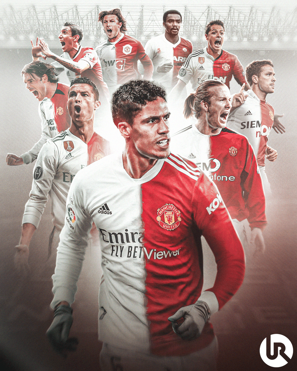 Aerial photography of a football stadium filled with people. Utdreport On Twitter Raphael Varane Is Set To Become The Ninth Player To Play For Both Manchester United And Real Madrid