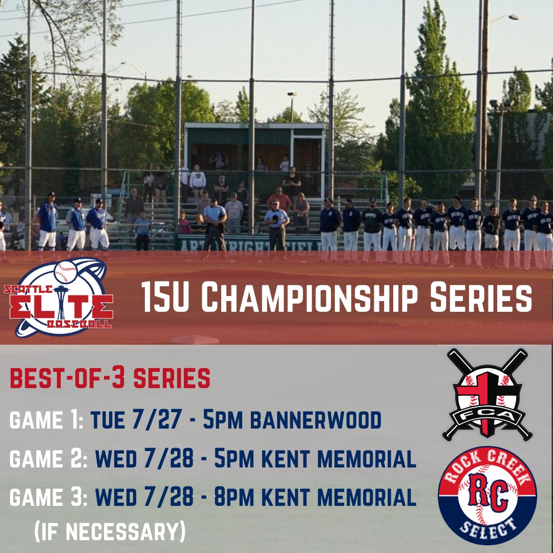 test Twitter Media - We will also crown champions of the Seattle Elite 15U & 16U leagues tonight at Bannerwood Park (16U) and Kent Memorial Park (15U). Rock Creek and Washington A's Purple took game one of the best-of-three series last night in the 15U & 16U divisions respectively https://t.co/yARzt2U8JE