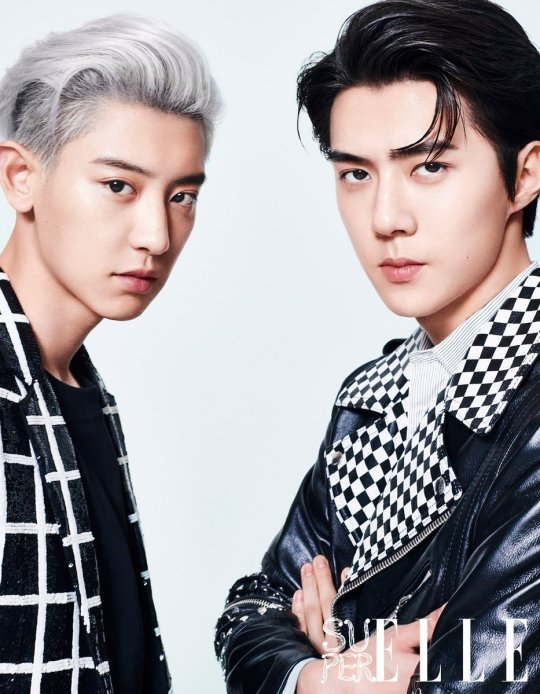 Image result for sehun chanyeol photoshoot