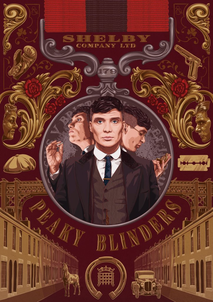 the rise of thomas shelby poster art