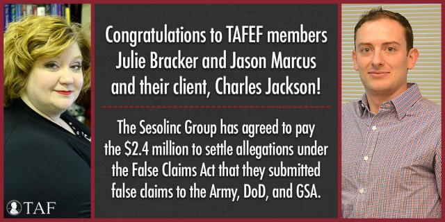 Image for the Tweet beginning: Congrats to TAFEF members Julie