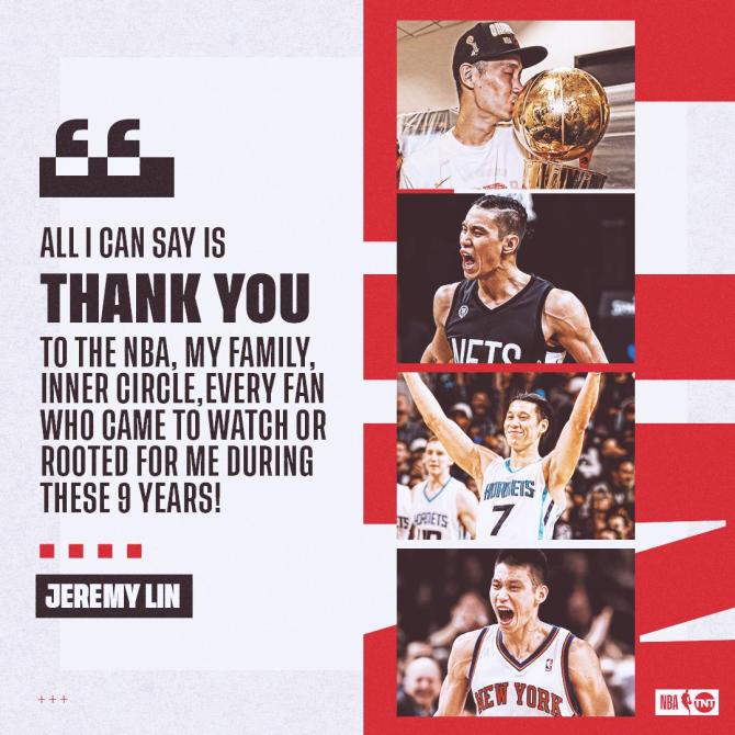 Jeremy Lin has nothing but gratitude as he starts his next chapter in China. 🙏