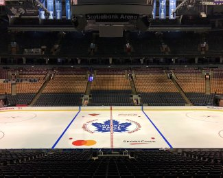 Scotiabank Arena in Toronto, Ontario, CA. Home of the Toronto Maple Leafs.