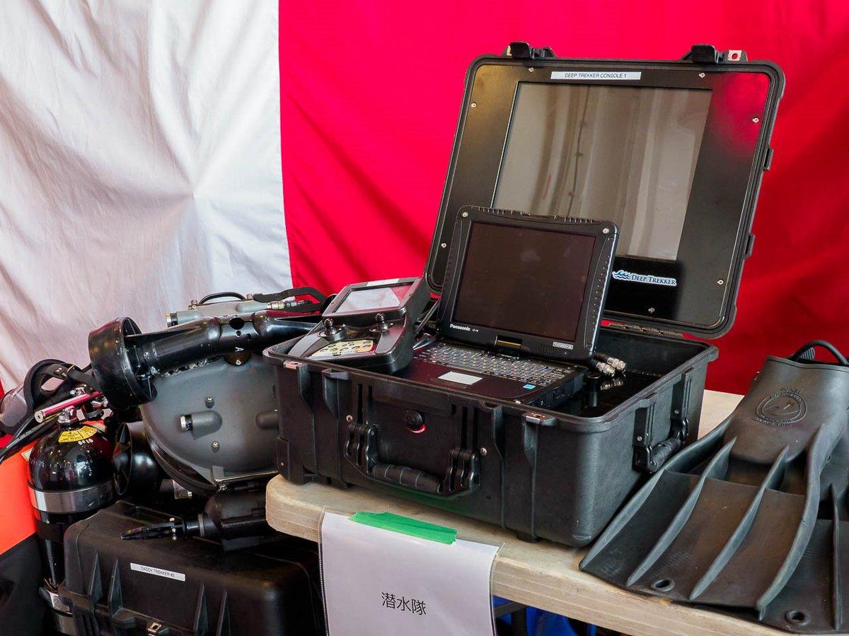 test ツイッターメディア - オタワは遠隔操作無人機類が搭載されていました。潜水隊の水中ROVディープトレッカーや、訓練用ボートのハンマーヘッドUSV-Tなど。 https://t.co/Jd0TjVFydh