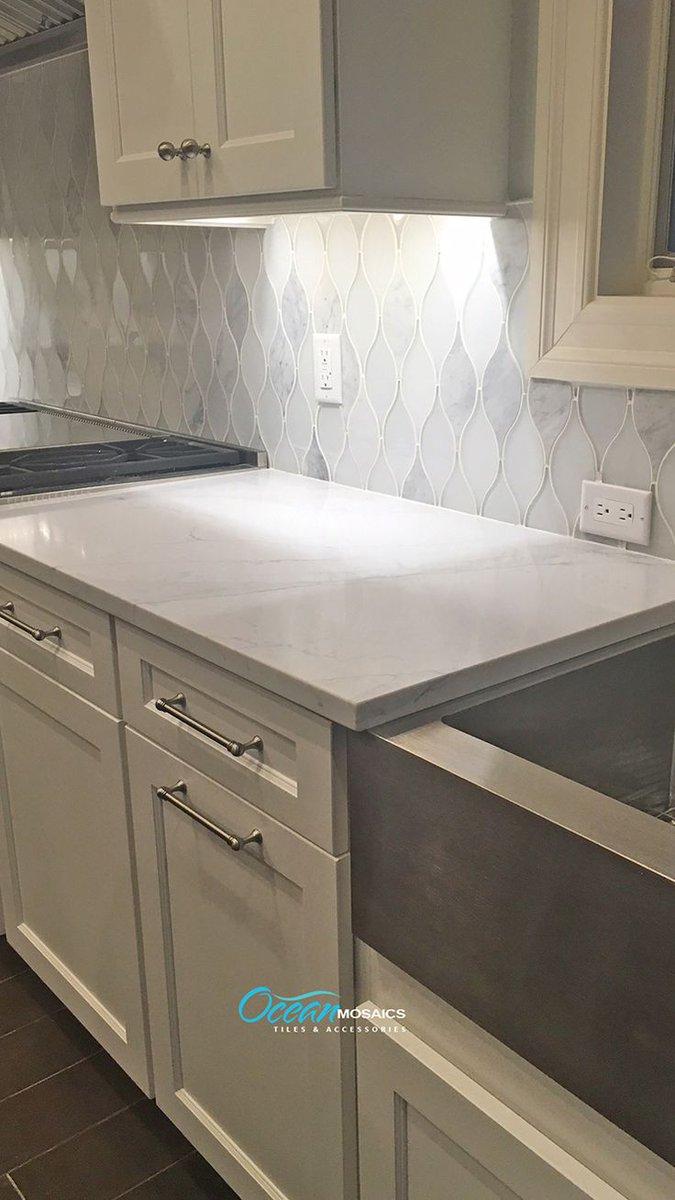 teardrop backsplash glass tiles