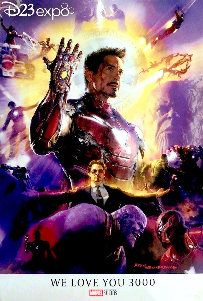 i love you 3000 iron man poster artwork