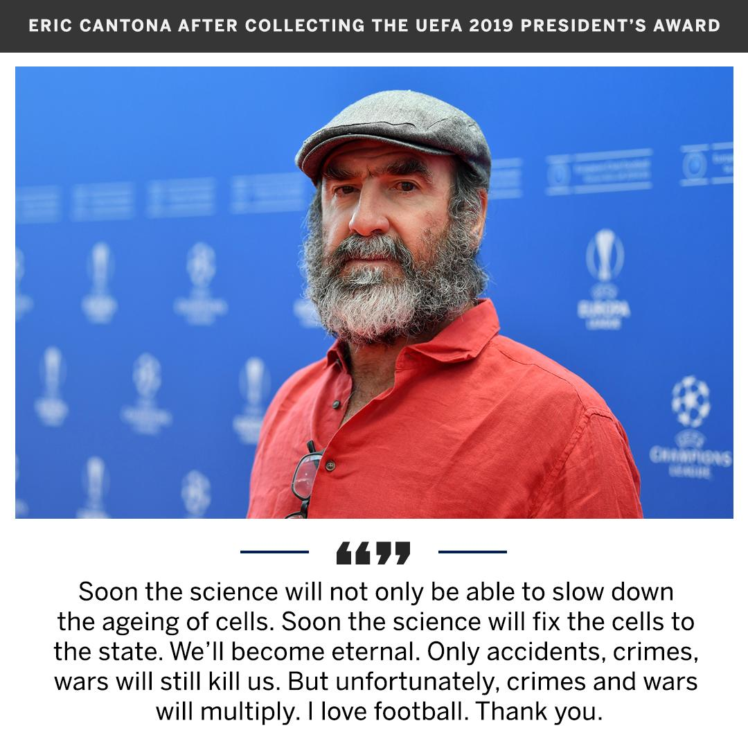 Soon the science will not only be able. Espn Uk On Twitter Eric Cantona S Acceptance Speech Was Different