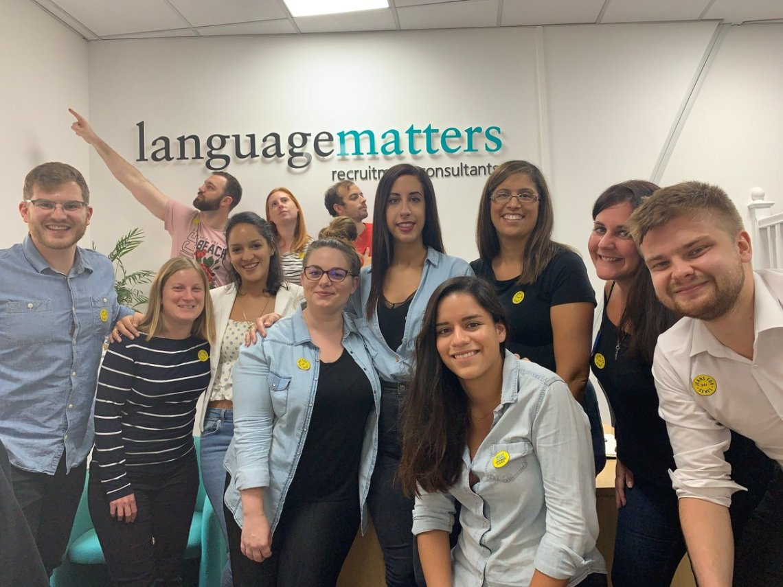 test Twitter Media - Today is #JeanforGenesday at the office! We are all wearing our favourite jeans to work to raise money for this amazing charity. 👖  #Languagematters #Language #Bilingual #Charity #LM #Jeansforgenesday #jeansforgenes #recruitment #awareness #jeans #raiseawareness https://t.co/6ESKcmIeOW