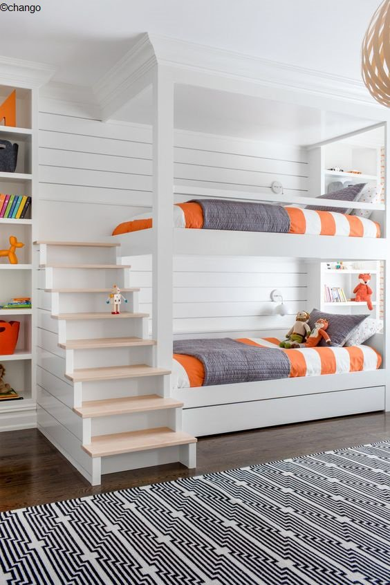 lit orange blanc couleur couleurs